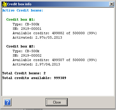 Credit boxinfo